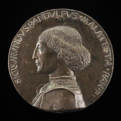 Image for Sigismondo Pandolfo Malatesta, 1417-1468, Lord of Rimini and Fano [obverse]; The Castle of Rimini [reverse]