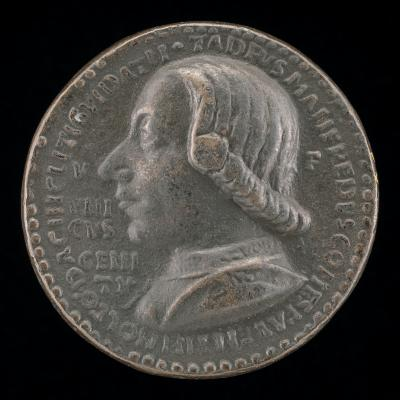 Image for Taddeo di Guidacci Manfredi I, Count of Faenza and Lord of Imola 1449 [obverse]; Female Figure and Putto [reverse]