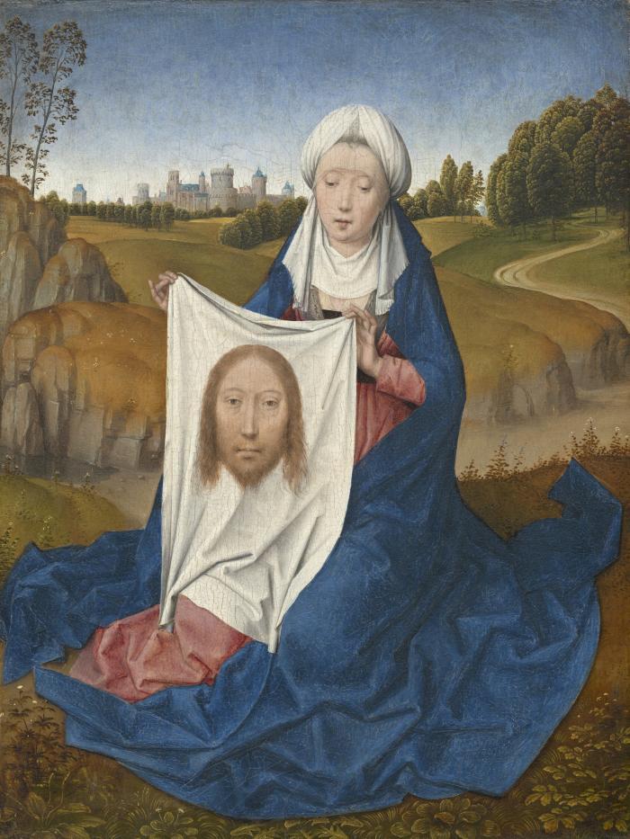 Image for Saint Veronica [obverse]; Chalice of Saint John the Evangelist [reverse]