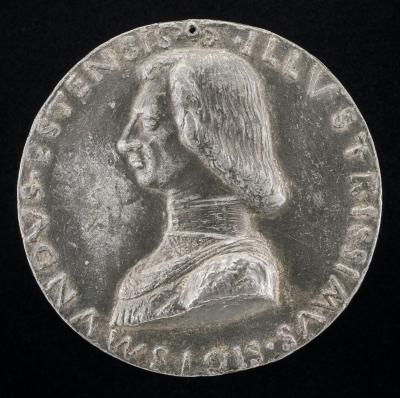 Image for Sigismondo d'Este, 1433-1507, Son of Niccolo III d'Este [obverse]; Cupid Holding a Palm-branch and Balance [reverse]