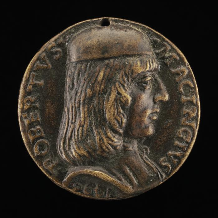 Image for Roberto di Ruggiero Macinghi [obverse]; Figure Holding a Shield and Peacock [reverse]