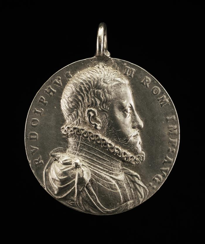 Image for Rudolph II, 1552-1612, Holy Roman Emperor 1576 [obverse]; Eagle and Radiant Wreath [reverse]