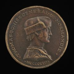 Image for Thomas Bohier, died 1524, Général de Finances of Normandy 1496 [obverse]; Arms of Thomas Bohier [reverse]