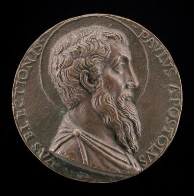 Image for Saint Paul [obverse]; Inscription in a Wreath [reverse]