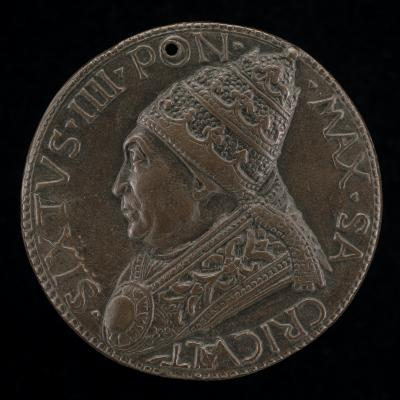 Image for Sixtus IV (Francesco della Rovere, 1414-1484), Pope 1471 [obverse]; Constancy with Turkish Captives [reverse]
