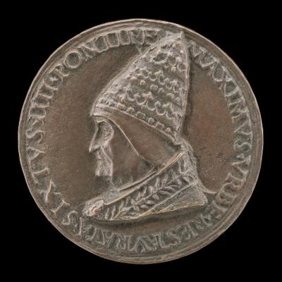 Image for Sixtus IV (Francesco della Rovere, 1414-1481), Pope 1471 [obverse]; The Pope in Audience [reverse]