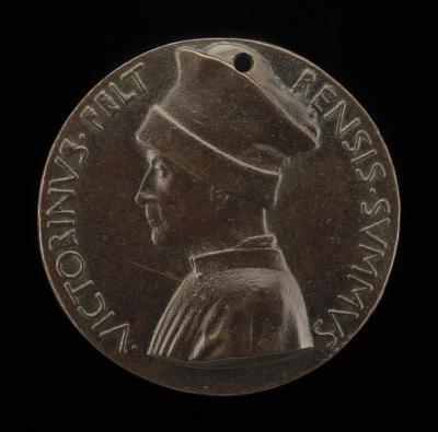 Image for Vittorino de' Rambaldoni da Feltre, 1379-1446, Humanist [obverse]; Pelican in Her Piety [reverse]