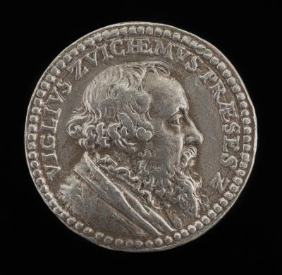 Image for Viglius van Aytta of Zuichem, 1507-1577, Lawyer and Humanist [obverse]; Table [reverse]