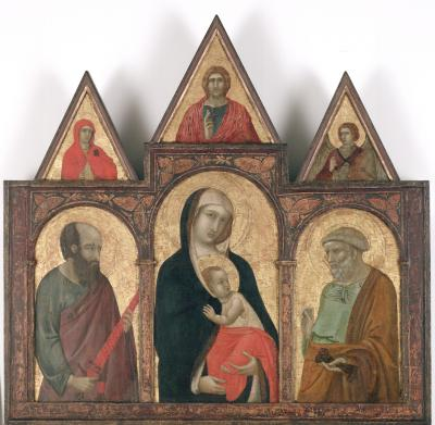 Image for Virgin and Child Between Saints Paul and Peter