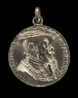 Image for Wilhelm Löffelholz von Kolberg, 1501-1554, Patrician of Nuremberg [obverse]; Shield, Cuirass, Casque, and Crest [reverse]