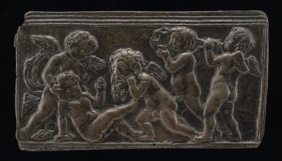 Image for Infant Bacchants with Pipes, a Vase, and a Mask of Silenus
