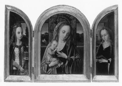 Image for Virgin and Child with Saint Catherine and Saint Barbara