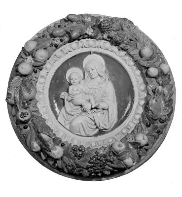 Image for Madonna and Child in fruit frame