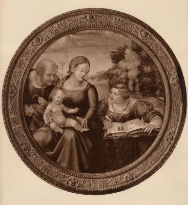 Image for Madonna and Child with Saint Joseph and Saint Catherine