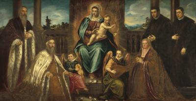 Image for Doge Alvise Mocenigo and Family before the Madonna and Child