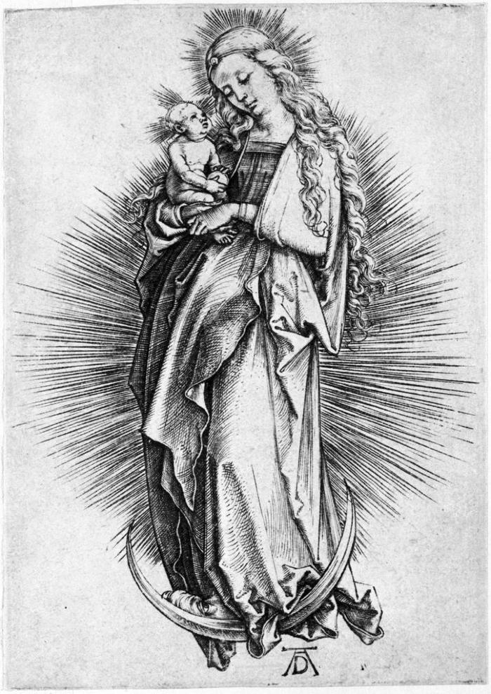 Image for Virgin and Child on a Crescent