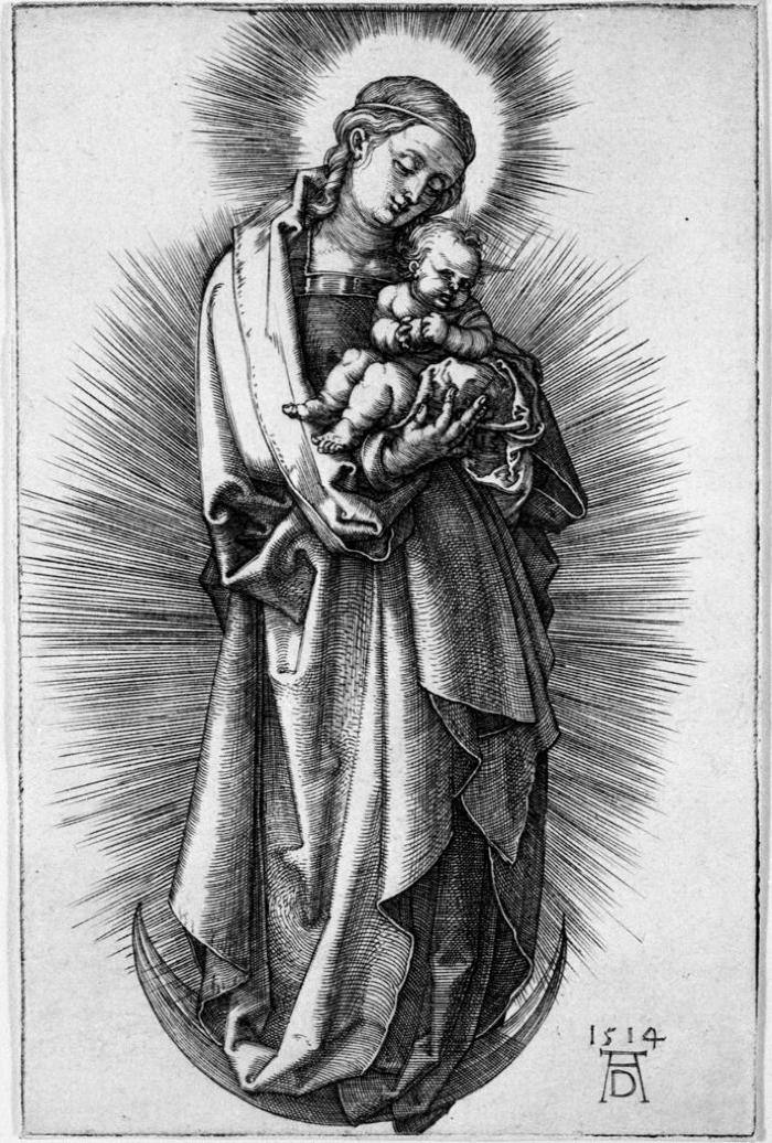 Image for Virgin and Child on a Crescent with a Diadem