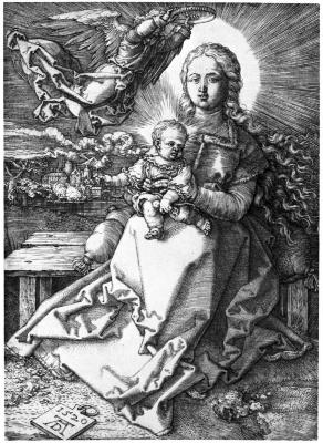 Image for The Virgin and Child Crowned by One Angel