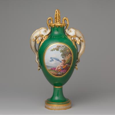 Image for Vase with Cover (Vase à Dauphins)