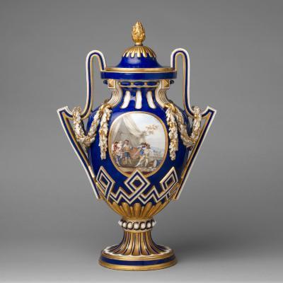 Image for Vase with cover (vase à bâtons rompus)