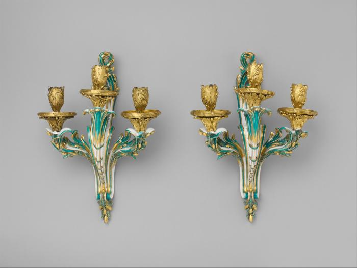 Image for Wall sconce (bras de cheminée) (one of a pair)
