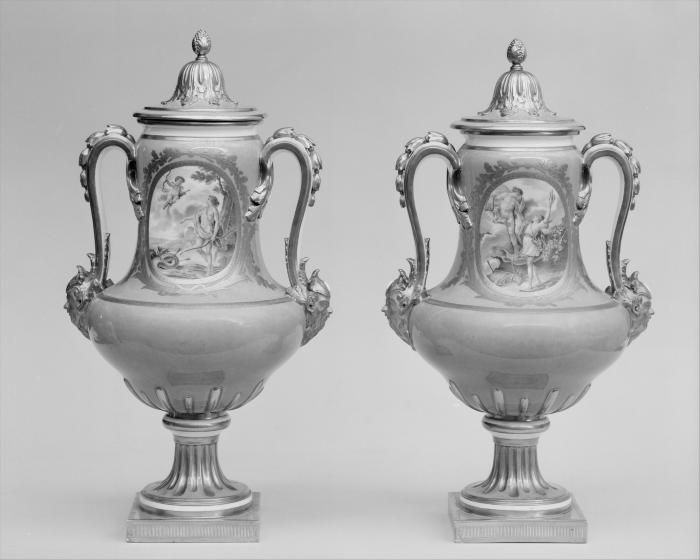 Image for Vase with cover (vase B de 1780) (one of a pair)