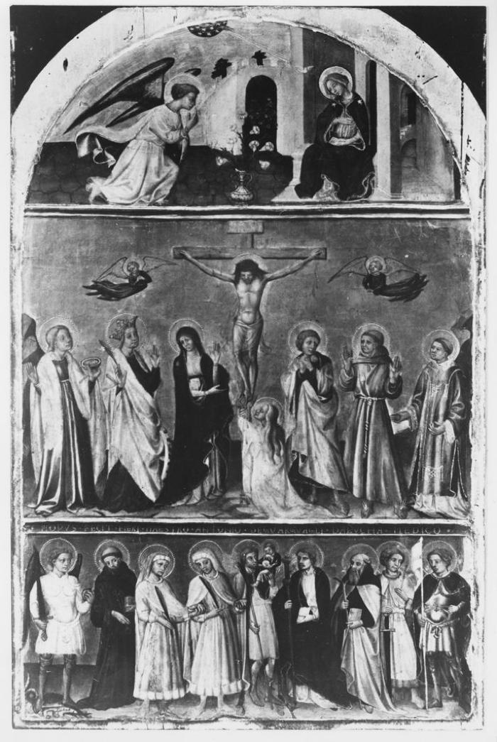 Image for Crucifixion, The Annunciation and a Group of Saints