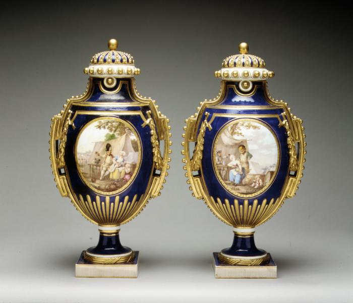 Image for Vase (vase à perles) (one of a pair)