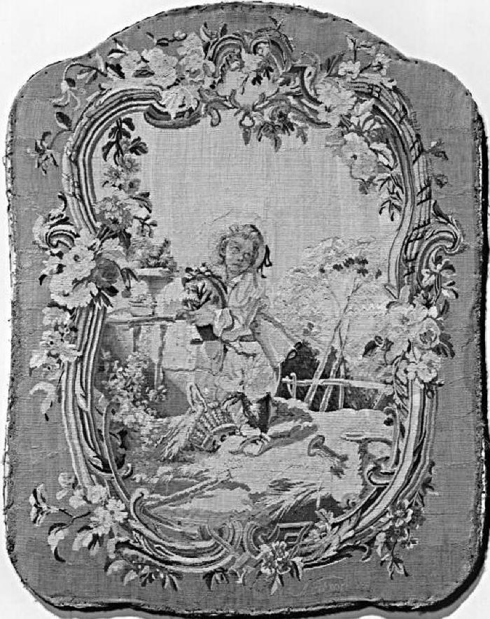 Image for Boy with Bagpipe (Firescreen panel with tapestry)