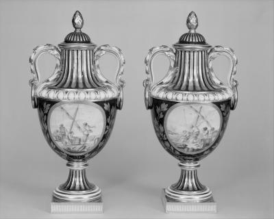 Image for Vase with cover (vase de coté de Paris) (one of a pair)