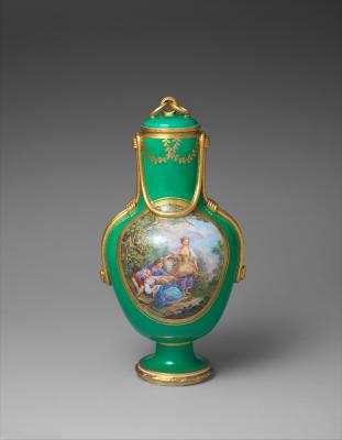 Image for Vase with cover (vase à flacon) (one of a pair)