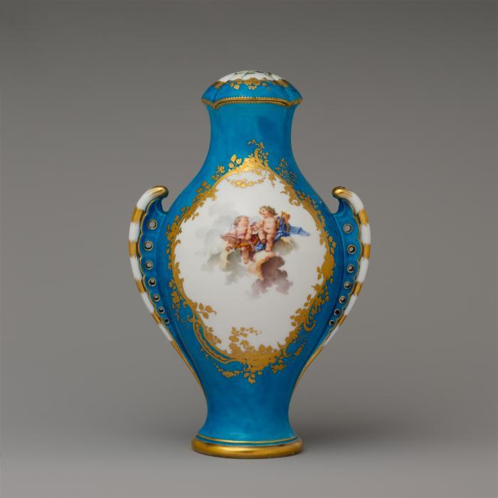 Image for Vase with cover (vase urne antique) and base
