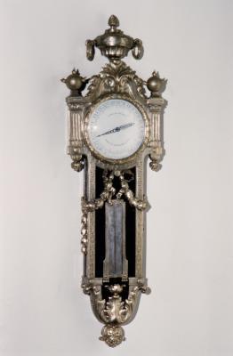 Image for Wall clock-barometer (baromètre et thermomètre en cartel)