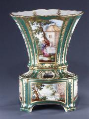 Image for Flower vase with stand (vase hollandais nouveau) (one of a pair)