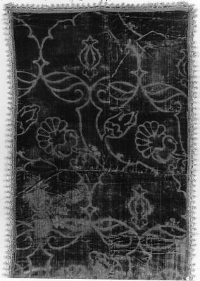 Image for Green, voided velvet, ferronerie type runner