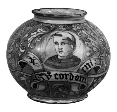 Image for Majolica Vase, Round