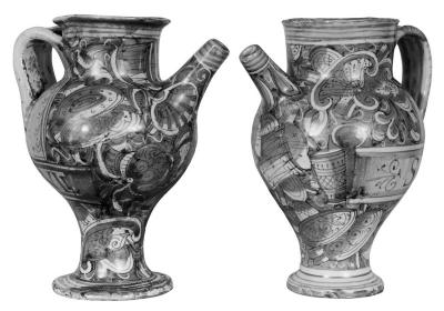 Image for Majolica Vase With Handles