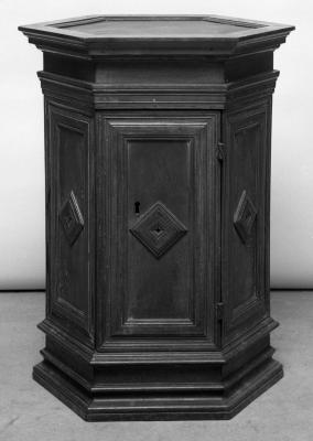 Image for Octagon base cabinet made of old walnut