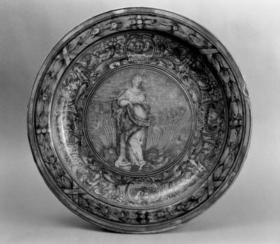 Image for Plate with Female Figure