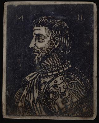 Image for Bust of a Bearded Man with Ornate Breastplate Facing Left