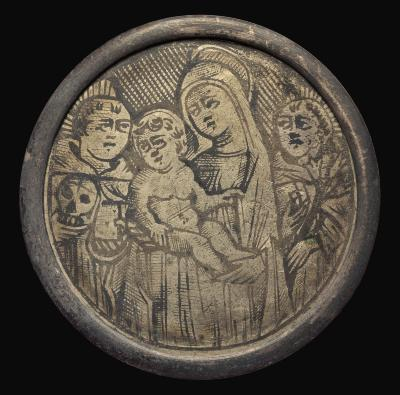 Image for Virgin and Child between Two Religious