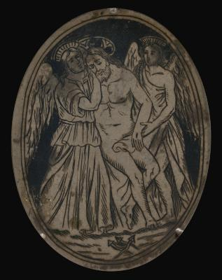 Image for Dead Christ Supported by Two Angels