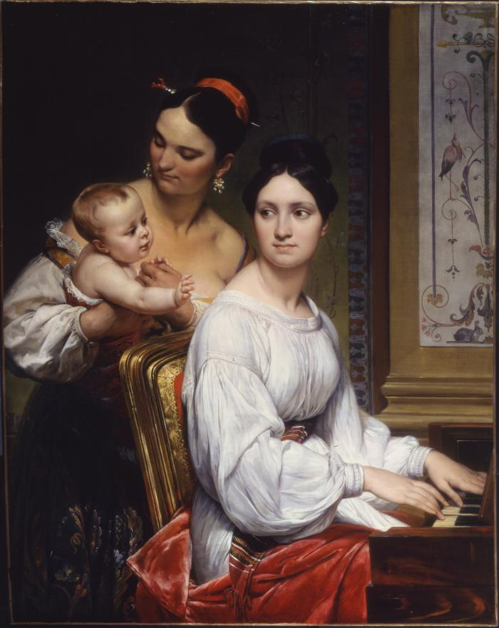 Image for Portrait of the Marchesa Cunegonda Misciattelli with Her Infant Son and His Nurse