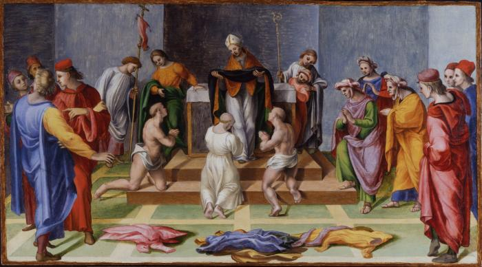 Image for Saint Augustine Giving the Habit of His Order to Three Catechumens