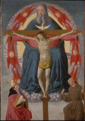 Image for Holy Trinity Adored by Saint Francis and Saint Augustine