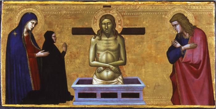 Image for Man of Sorrows with the Virgin Mary, Saint John and a Donor