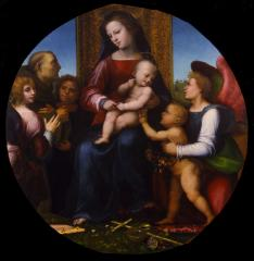 Image for Virgin and Child with the Infant St. John the Baptist, St. Francis, and Three Angels