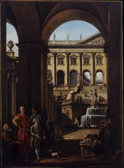Image for Entrance to a Palace or Architectural Capriccio with a Portrait of Voivod Franciszek Salezy Potocki