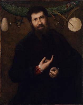 Image for Portrait of a Man with Allegorical Symbols