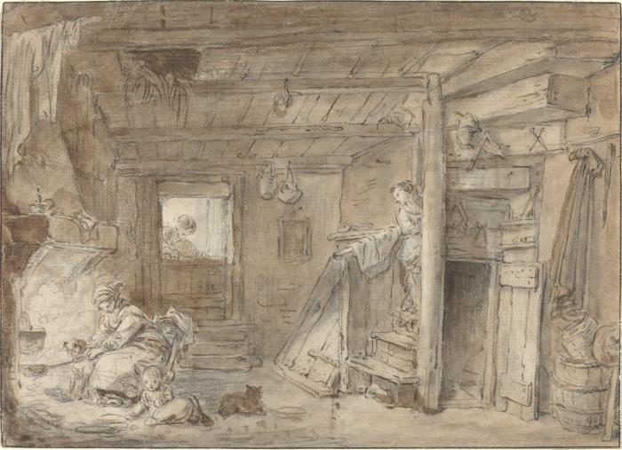 Image for Interior of a Farmhouse with Figures